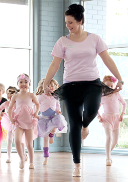 Kinderballet Teacher and Class