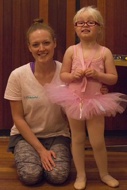 Ballerina and Teacher