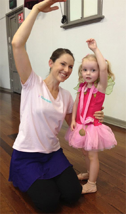 Kinderballet Teacher and Student